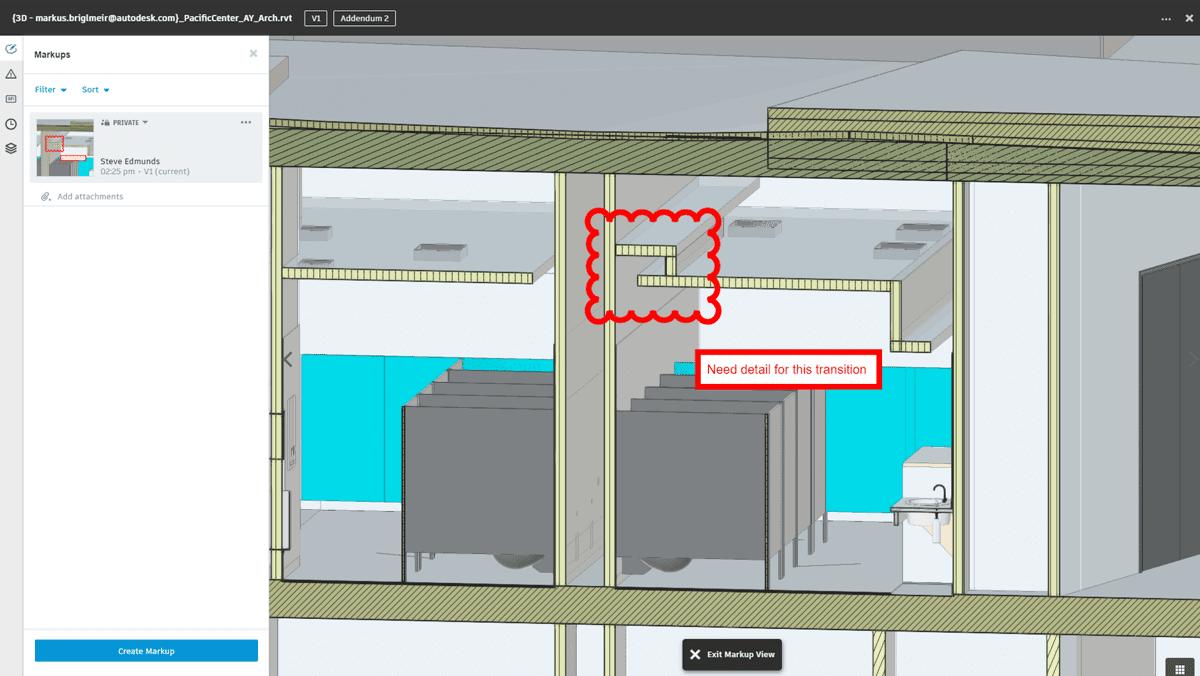 Marcas de revisión en 2D y 3D